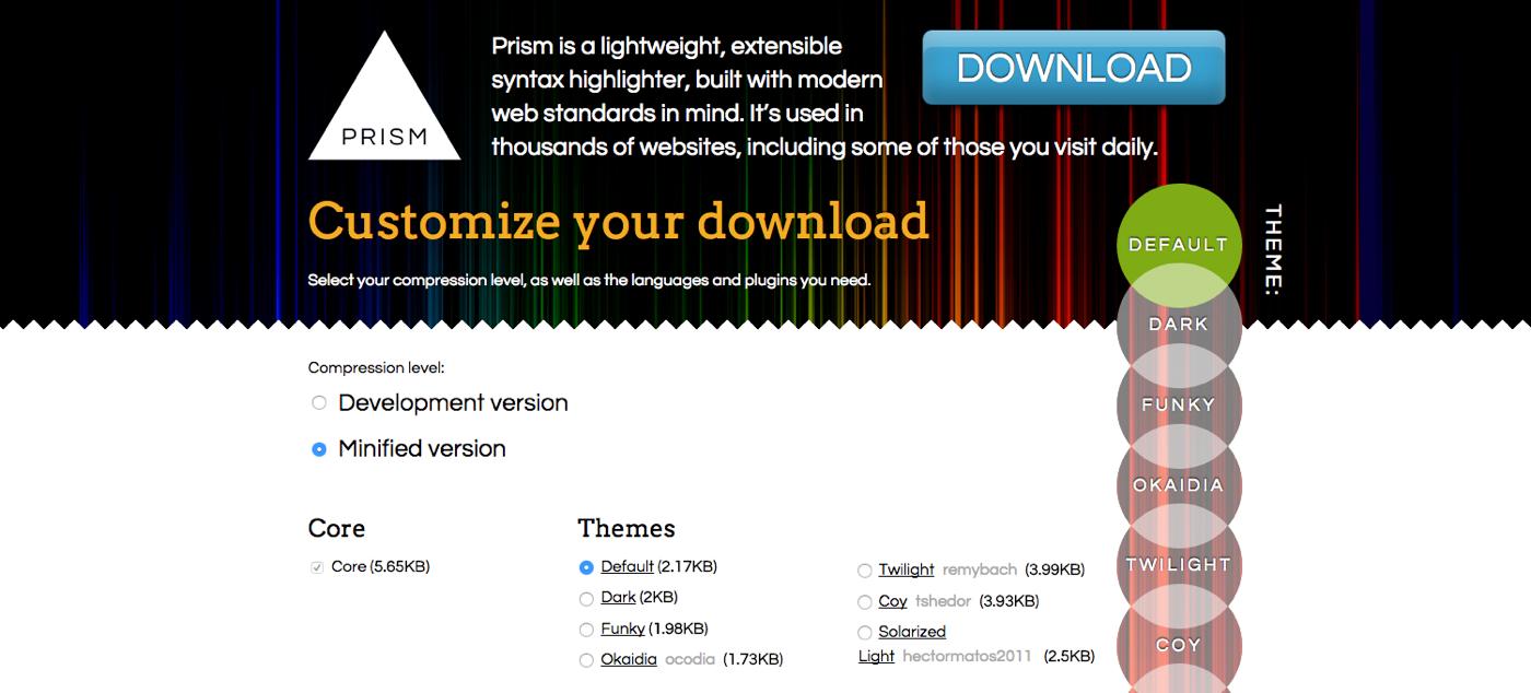 シンタックスハイライトの決定版!超軽量でシンプルなprism.jsの設定方法