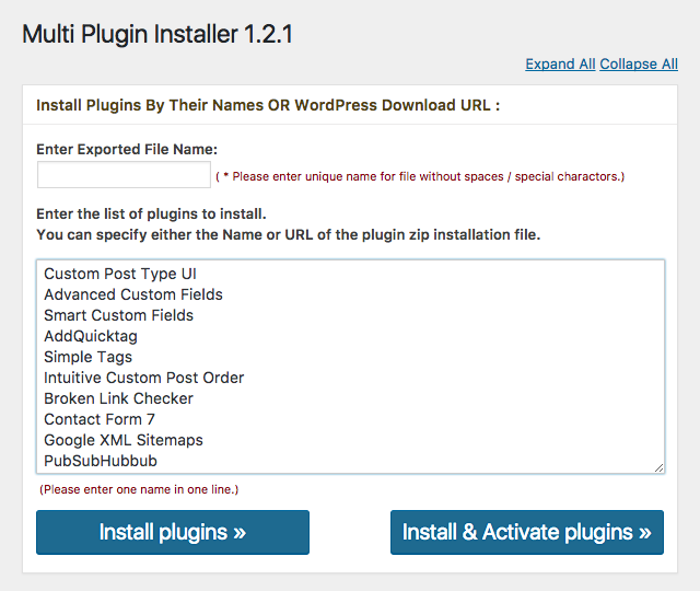 WordPressプラグイン - Multi Plugin Installer | wordpress plugin